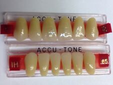 Acrylic False Teeth For Dentures. Accutone,shade65 upper & lower Anterior IH Set