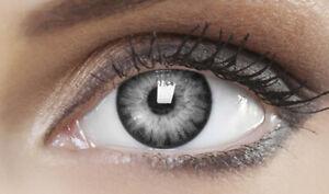 Farbige graue Kontaktlinsen Karneval Fasching Halloween - NIGHT GRAY - PLANO