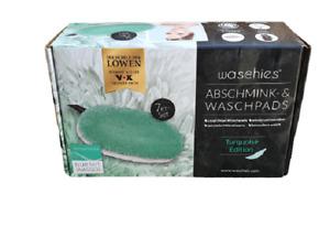 Waschies Abschminkpads -& Waschpads aus Mikrofaser,türkis/weiß,7 Stk.