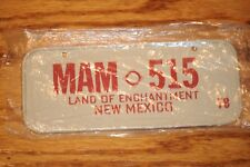 Vintage 1970's  Miniature Bike State Metal License Plate USA Plates New Mexico