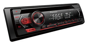 Pioneer DEH-S1250UB CD Receiver with USB, Android Smartphone Support, Aux-In.