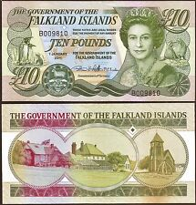 Falkland Islands - £10 banknote, 2011 edition, consecutive numbers available.UNC
