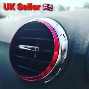 Audi TT MK2 /8J Air vent Rings Red set of 5
