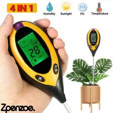 More details for 4 in1 soil ph meter tester lcd digital temperature sunlight fertility hygrometer