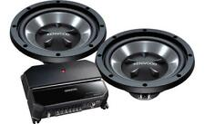 """Kenwood Bass Party Pack 12"""" Subs Pair, Plus 2-Channel Amplifier P-W1221"""