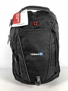 NWT Wenger Black Nylon Unisex Large Travel Air Flow Computer Backpack