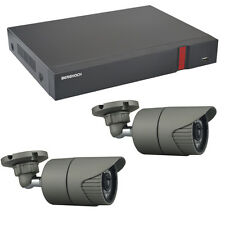 Videoüberwachung Set HD 1080p mit 2x Aussen Überwachungskamera + 2 TB Festplatte
