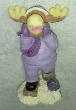 J.T.S International Inc. Reindeer Shouting, w/ Gift In Snow figurine. Christmas