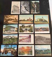 Lot of 15 Original Vintage Postcards - Washington - Aberdeen, Roy, Sunnyside+