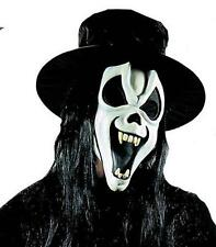 Brillano al buio MASCHERA Scream con denti Cappello & Capelli HALLOWEEN FANCY DRESS