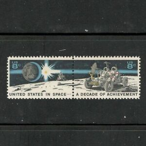 USA: se-tenant pair [#1434 & #1435]  LUNAR ROVER / SPACE stamps – MNH –