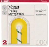 MOZART: THE LAST FIVE SYMPHONIES NEW CD