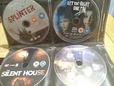 8 classic horror movies 8 X discs only very good condition free postage