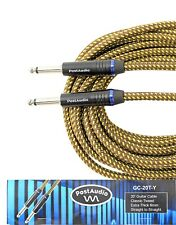 Post Audio 20' Classic Tweed Premium Guitar Cable 10 Year Warranty