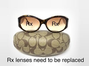 Coach Judi S457 Tortoise EYEGLASSES FRAMES 57-16 Butterfly Missing Some Crystals