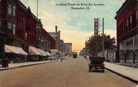 Postcard Looking North on Schuyler Avenue in Kankakee, Illinois~121342