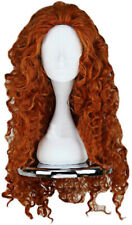 Angelaicos Womens Fluffy Wavy Party Halloween Costume Merida Wig Long Brown