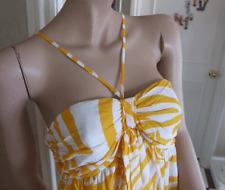 Joseph Ribkoff BNWT 10 fabulosa sol amarillo y blanco Zebra Print vestido de algodón