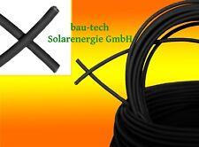 Solarkabel schwarz Photovoltaik 6mm2 Meterware für PV Solar Photovoltaik Montage