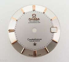 .VINTAGE OMEGA CONSTELLATION NEW OLD STOCK STEEL & PINK GOLD PIE PAN DIAL CAL503
