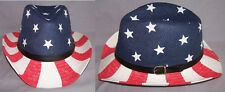US Flag Stars & Stripes Cowboy - Cowgirl Western Hats 1 Pc or 6Pc Lot (ECOWBG43)