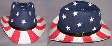 US Flag Stars & Stripes Cowboy - Cowgirl Western Hats 1 Pc or 6Pc Lot (ECOWBG43)