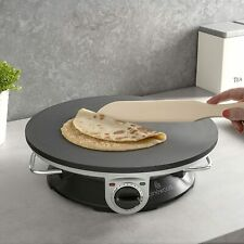 More details for crepe pancake maker electric non stick hot plate adjustable temperature galettes