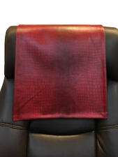 Recliner Head Rest Cover Vinyl  alligator Red 14x30 Sofa Love seat Chaise
