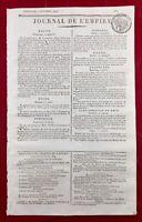Guerre d'Espagne 1809 Madrid Séville Lieuvillers Oise Journal de l'Empire