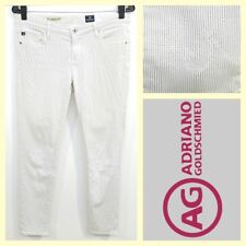 AG/Adriano Goldschmied $168 'The Legging Super Skinny Ankle' pinstripe jeans~28R