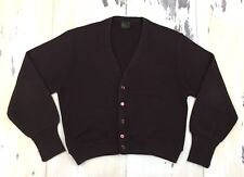 JCPENNEY - Vtg 70s-80s Brown Acrylic Cardigan Sweater, Mens MEDIUM-LARGE