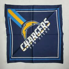 "NFL San Diego Chargers Bandana 22"" X 22"" Team Colors New WIth Tags"