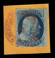 GENUINE SCOTT #24 USED RED CITY DELIVERY HAND STAMP - DEALER ESTATE CLOSEOUT