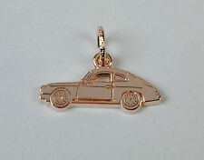 Gold Plated Sterling Silver Porsche Speedster Hardtop Charm Free U.S. Shipping