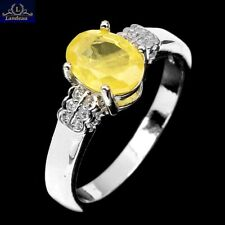 3.6  ct YELLOW SAPPHIRE GOLD on STERLING SILVER RING