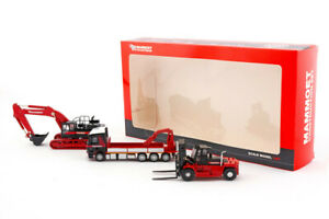 IMC 410106 Mammoet Construction Set w/Excavator, Flatbed & Forklift 1/87 HO MIB