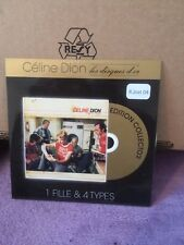 CD ALBUM CARTONNE CELINE DION LES DISQUES D'OR 1 FILLE ET 4 TYPES