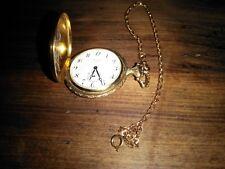 17 Jewel - Gold Tone Hunters Vintage Belair Pocket Watch & Chain -