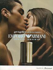 Publicité Advertising 2002  Parfum  EMPORIO ARMANI
