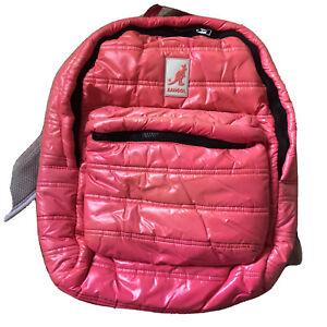Kangol Puffer Nylon Glanz Shiny Pvc Skate  backpack School Emo Cosplay 90s