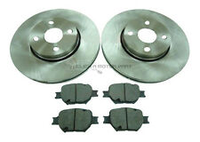 TOYOTA COROLLA VERSO 1.8 2.0 D4D 02-04 FRONT 2 BRAKE DISCS & PADS 4 STUD CHECK