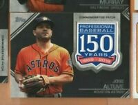 2019 Topps Baseball - 150 Years Patch Relic Card - Jose Altuve - Houston Astros