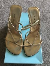 river island gold strappy sandals- size 3 - parties