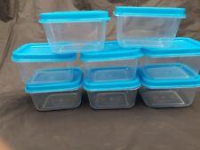 24 X Plastica Trasparente MINI scatole portaoggetti per gli ALIMENTI CONGELATORE residuo
