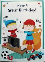 Have a great Birthday! card, suitable for boy or girl, video games theme, new