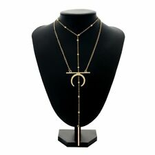 Jewelry Body Chain Moon Pendant Bead Necklace Women Clavicle Chain Multilayer