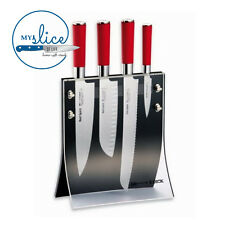 F Dick 5 Piece Red Spirit Knife Block Set 8177200 - German Made
