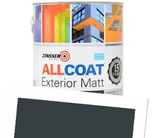Zinsser Allcoat Exterior 15 Year Protection WB Tintable RAL 7016 Grey Matt 2.5L