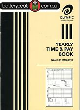 Olympic Yearly Time and pay wages book A5 32 pages 210 x 148 140583 Wages