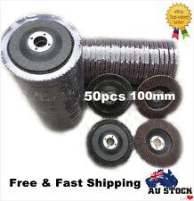 "50x 4""100mm 80 Grit Aluminum Oxide Calcined Flap Discs Metal Wood Grinding Wheel"